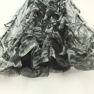 Tango Mango Black & Grey Newsprint Dress